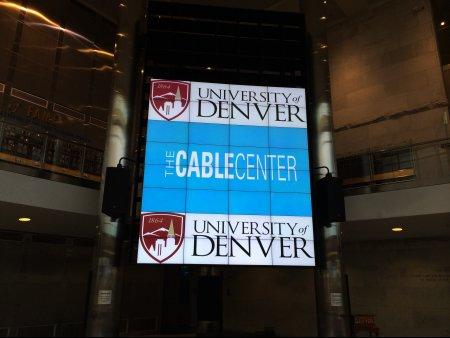 Denver university event setup by Spectrum Audio Visual in Denver, CO
